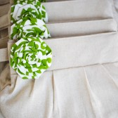 Custom gathered clutches for bridesmaids