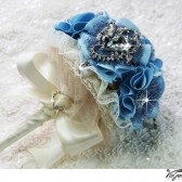 SOMETHING BLUE Wedding Bridal Bouquet
