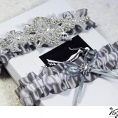 Heirloom Rhinestone bridal garter set