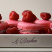 Hot Pink Raspberry White Chocolate Ganache French Macarons