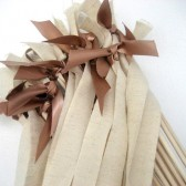 Rustic Burlap Send Off Wands