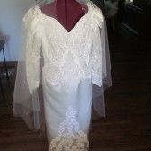 Wedding Veil White Waterfall Fingertip with Swaroski Crystals