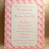 Flowers French Tea Party / Sip and See / Bridal Shower / Birthday / Printed Invitation / Luncheon / Save the Date Custom by Darby Cards