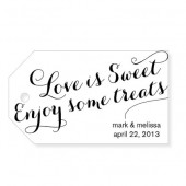 Love is Sweet Enjoy Some Treats Custom Wedding Favor Tags - Large Size