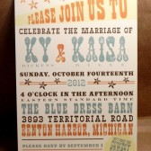 Western / Hatch / Southern Engagement Party / Save the Date / Rehearsal Dinner / Wedding Custom Printed Darby Cards Invitation