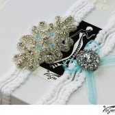 Something blue Wedding Garter Set