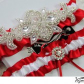 Red Wedding Garter set