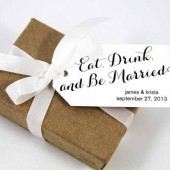 Eat Drink and Be Married Wedding Favor Tags - Medium Size