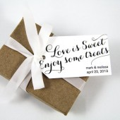Love is Sweet Enjoy some Treats Custom Wedding Favor Tags - Medium Size