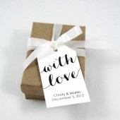 With Love Custom Wedding Favor Tags - Medium Size