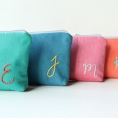 Personalized Embroidered Bags, Bridesmaid Gift