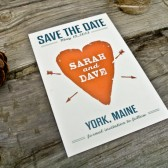 Save The Date : Rustic and Modern Heart PostCard