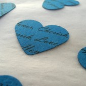 Custom Heart Confetti (Blue)