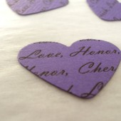 Personalized Confetti // Custom Confetti Paper Hearts // Purple