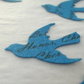 Custom Bird Confetti (Blue)
