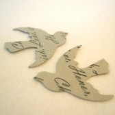 Custom Bird Confetti (Silver/Gray)