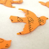 Custom Bird Confetti (Orange)