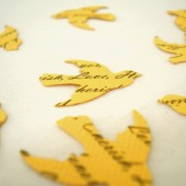 Custom Bird Confetti (Yellow)