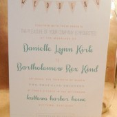 Simple / Fun / Wedding / Outdoor / Southern / Wedding / Banner / Homemde / Peach and Turquoise Invitation / Birthday / Rehearsal / Custom