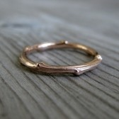 Twig Band: Rose Gold, 2mm wide