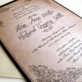 Vintage scroll Frame Invitations