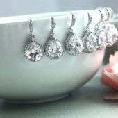 Large LUX Cubic Zirconia Pear Jewels Earrings