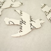 Custom Bird Confetti (White)