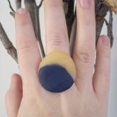 Scultped Marbled Clay Ring