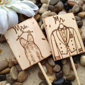 Military Wedding Personalized Cake Toppers with YOUR Wedding Dress and His Military Uniform