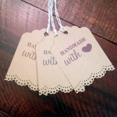 Kraft HANDMADE WITH LOVE Gift Tags Wedding Favor Tags