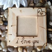 Personalized Wood Frame with Carved Initials in Hearts and 'i love you' engraved on the bottom Special gifts for Couples Boyfriend Girlfriend