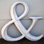 Custom Color, Distressed Ampersand