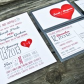 Wedding Invitation: Rustic, Retro and Whimsical Heart