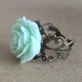Mint Rose Ring