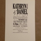 Engagement Party / Southern / Modern Hatch / Marriage / Printed Simple / Modern Custom Invitation / Country / Fun Party Card by Darby Cards