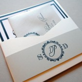 Gold and Black Wedding Invitations