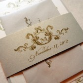 Flourish Monogram Invitations