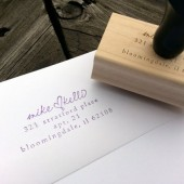 Wedding Address Stamp, first names together with a heart