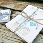 Rustic, Modern Yellow, teal, and gray whimsical Heart