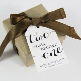 Two Shall Become One Wedding Favor Tags - Medium Size