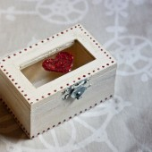 Ring Bearer Wooden Wedding Box - Pillow Alternative - Jewelry Box - Primitive Distressed
