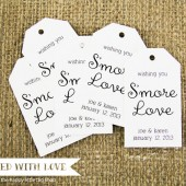 Smore Love Wedding Favor Tags - Medium Size
