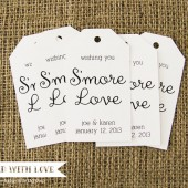 Smore Love Custom Wedding Favor Tags - LARGE SIZE