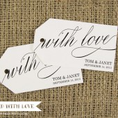 With Love Custom Wedding Tags - Medium Size