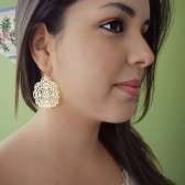 Gold Lace Filigree Earrings