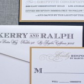 Gatsby Inspired Pocket Invitation - Kerry and Ralph