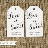 Love is Sweet Custom Tags - Large Size