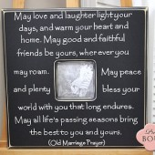 "Old Marriage Prayer 20"" x 20"" Picture Frame"