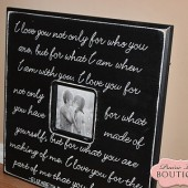 20x20 Picture Frame E. Browning Quote