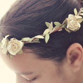 White and Gold Floral Crown